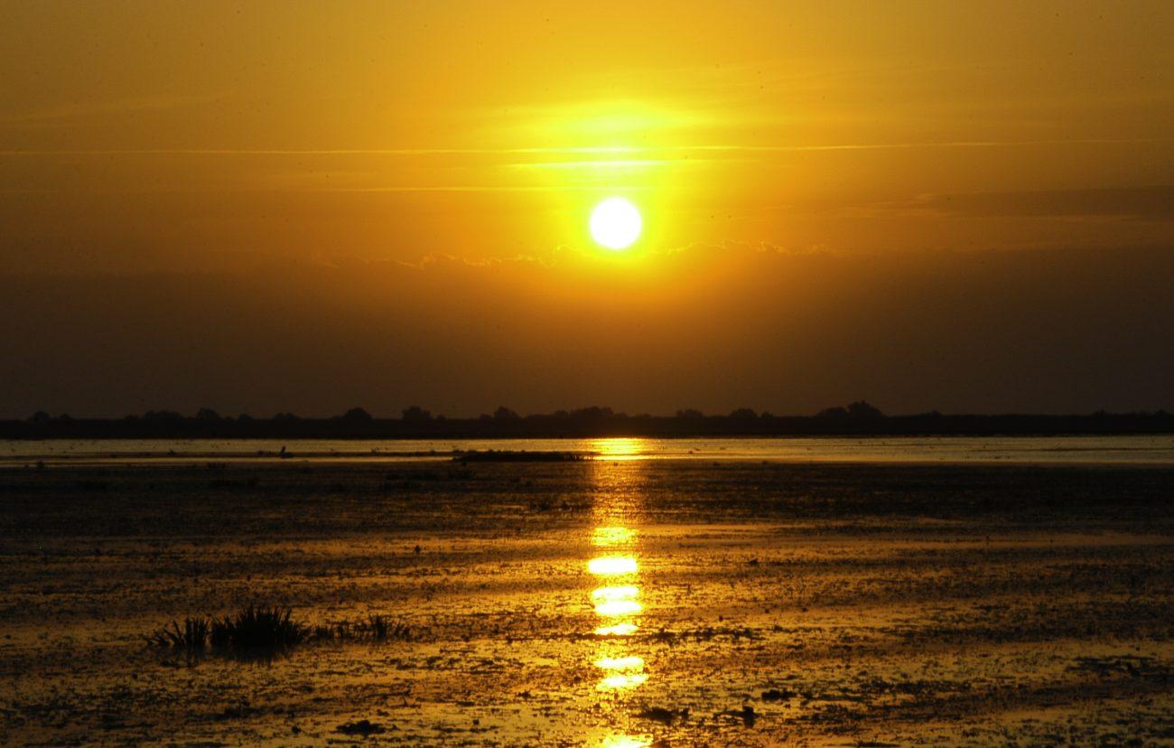 Rasarit vazut in Delta Dunarii