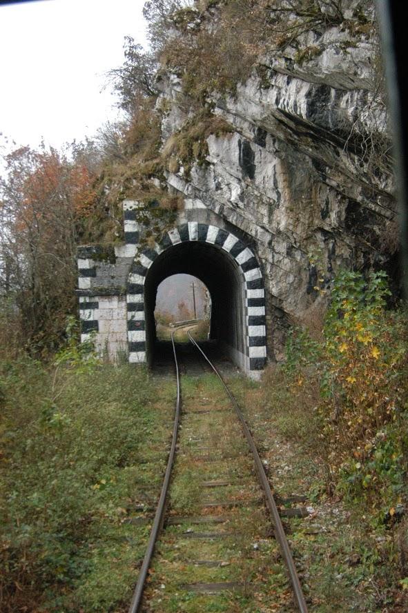 Unul dintre tunelele din Anina