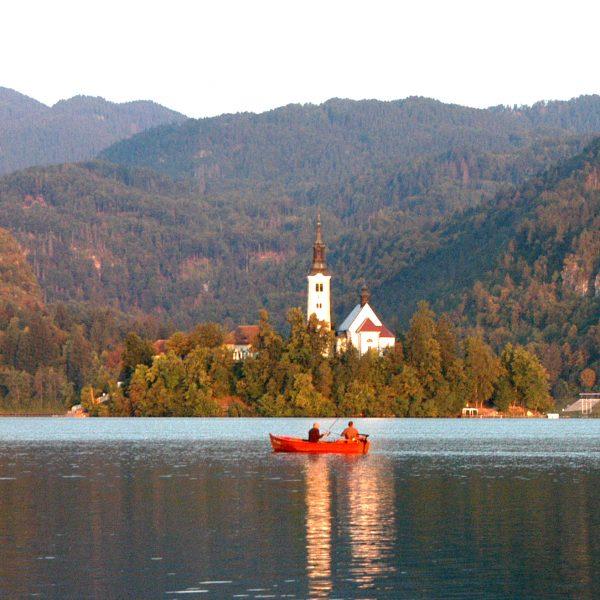Lacul Bled si rasaritul
